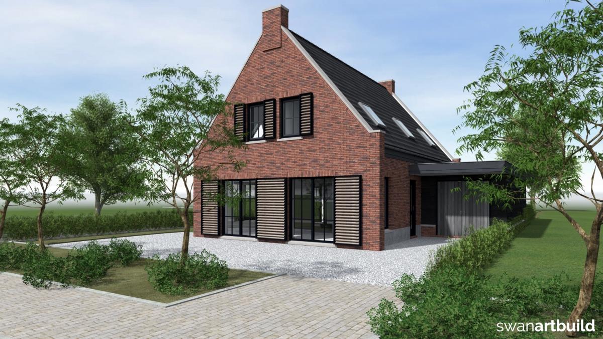 Swan Art & Build ontwerp woonhuis Sportlaan Tuitjenhorn