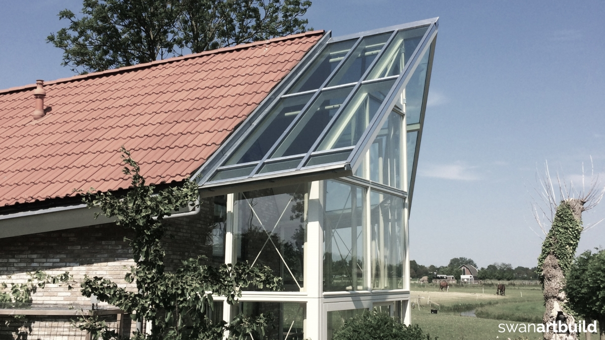 uitbreiding woonhuis glazen serre achterzijde woonhuis schagen