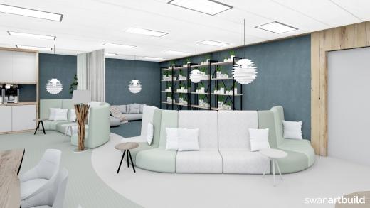 concept interieur inrichting lerarenkamer Jac. P. Thijsse College Castricum impressie