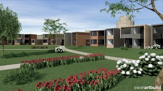 Ontwerp nieuwbouw container hotel Yedikule Istanbul Turkije