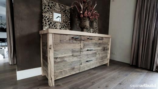 Ontwerp meubel oud eiken dressoir