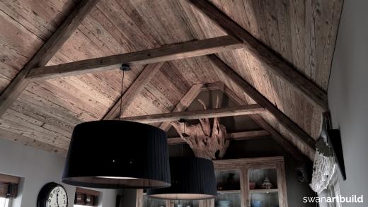 Interieur oud eiken woonhuis Aerdenhout