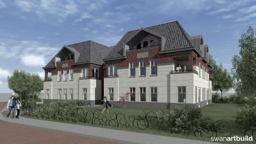 Nieuwbouw 8 appartementen modern neoclassicistische bouwstijl