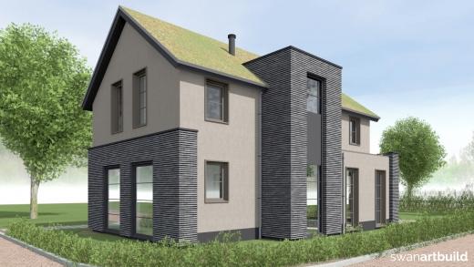 Ontwerp nieuwbouw vrijstaand woonhuis Leonidas Rotterdam Artbuild