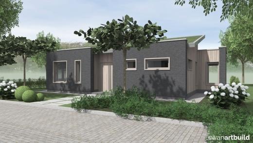 Ontwerp nieuwbouw bungalow Limmen
