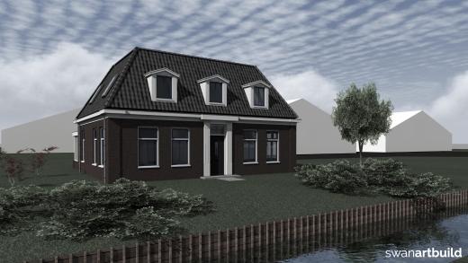 Nieuw te bouwen landelijk gelegen rentenierswoning Dirkshorn