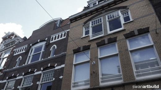 Restauratie beschermd stadsgezicht Kleine houtstraat 19-21 Haarlem
