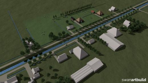 Stedenbouwkundig ontwerp 2 kavels in een landelijke omgeving Wieringerwaard