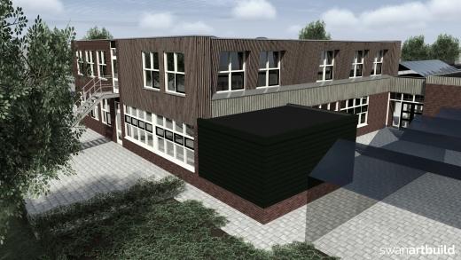 Uitbreiding Clusius College Grootebroek dakopbouw klaslokalen