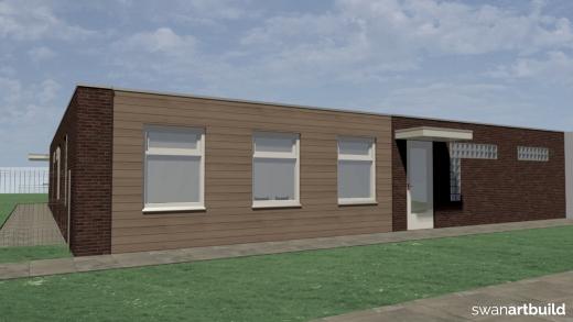 Verbouwing uitbreiding sportaccommodatie kleedruimtes zwem- en voetbalvereniging Dirkshorn