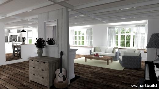 uitbreiding woonhuis bergen impressie interieur overzicht