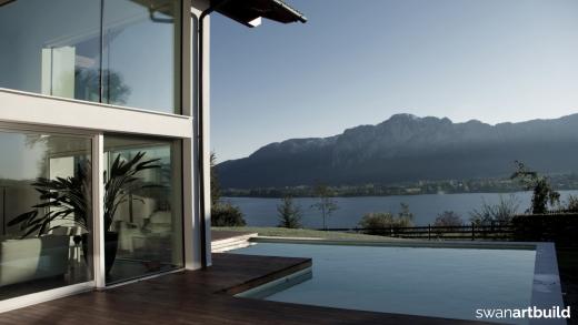 Vrijstaand woonhuis in modern Oostenrijkse stijl nieuwbouw villa Mondsee Oostenrijk