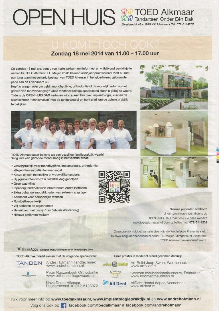 TOED Alkmaar, Alkmaar op zondag / Alkmaars nieuwsblad