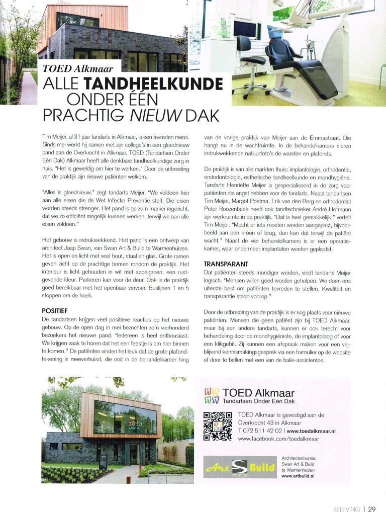 "TOED Alkmaar Vorm & Smaak Magazine ""Beleving"""